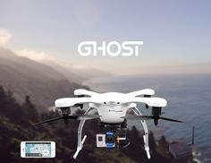 EHang GHOST  Smart RC #Quadcopter with 13.0MP Camera   Gimbal GPS Auto - Pathfinder Phone Control #Drone - Looking for a 'Quadcopter'? Get your first quadcopter today. TOP Rated Quadcopters has Beginner, Racing, Aerial Photography, Auto Follow Quadcopters