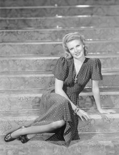 Ginger Rogers in 40s dress