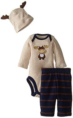 Gerber Baby-Boys Newborn 3 Piece Bodysuit Cap and Pant Set, Navy/Brown Moose, 6-9 Months Gerber http://www.amazon.com/dp/B00W7A4PB6/ref=cm_sw_r_pi_dp_-FOlwb0VENTYN