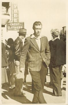 This is my grandad in the early 1950's. Fashionable? I think so. Vintage Photography