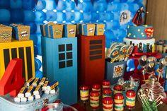 Superman Themed Birthday Party with So Many FABULOUS IDEAS via Kara's Party Ideas | Kara'sPartyIdeas.com #Superman #ClarkKent #Kryptonite #P...