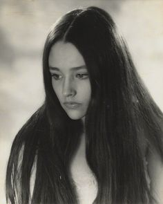 Olivia Hussey by Madame Yevonde (bromide print, 1968)
