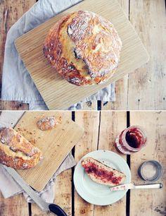 No-Knead Rustic Bread #recipe #baking