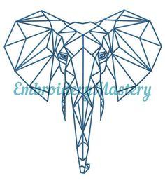 Elephant Machine Embroidery Design