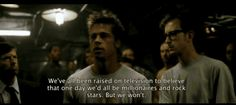 """When Tyler is giving a speech to the Fight Club, he looks directly at Jared Leto's character when he mentions rockstars. The year before the film's release, Jared Leto formed the now platinum-selling band """"30 Seconds To Mars."""" 
