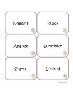 Synonyms for Middle School! Speech Language Therapy, Speech And Language, Speech Therapy, Language Arts, Classroom Posters, Classroom Ideas, Synonyms And Antonyms, Middle Schoolers, Language Activities