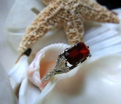 14k Mexican Cherry Fire Opal Ring 3.22g Size 6.5 by EverythingIOwn, $475.00