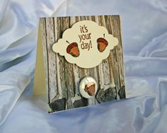 It's Your Day 1 Pinback Button Card w/ Envelope   by PocketBears, $2.95
