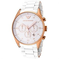 White and Gold Mens Chronograph Watch AR5919