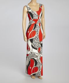 Take a look at the Red & Black Status Empire-Waist Maxi Dress - Women on #zulily today!