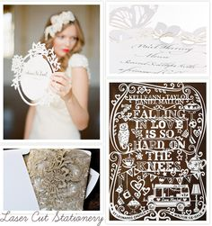 Laser cut invitations. These are a GORGEOUS, unique idea!