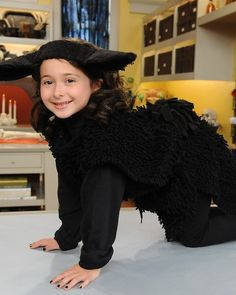 Dollar store Black Sheep costume