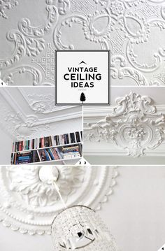 3 Unique Vintage Ceiling Decor and Design Ideas || Mood board