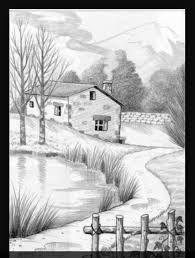 10 Dibujos a lápiz de paisajes Mehr Zeichnungen iDeen ✏️ Nature Sketches Pencil, Easy Pencil Drawings, Landscape Pencil Drawings, Pencil Sketch Drawing, Landscape Sketch, Art Drawings Sketches, Landscape Art, Landscape Drawing Easy, Pencil Shading