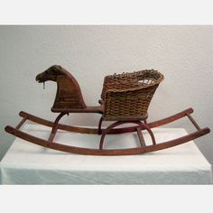 Children's Rocking Horse Cart now featured on Fab. Childrens Rocking Horse, Antique Rocking Horse, Rocking Horse Toy, Primitive Antiques, Old Antiques, Primitive Decor, Vintage Pram, Vintage Toys, Horse Cart