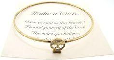 Make a Wish Gold Antiqued Bracelet - (Skull)