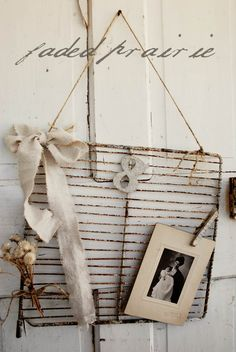 Raw and Romantic Message Board... $27.00, via Etsy.  OLD OVEN RACK ♥