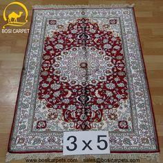 Hand knotted silk rug # Rug No.: P3080# Quality: 180L (225kpsi) # Size: 3x5ft (152) # Material: 100% Silk # wholesale Price: $525/piece # If you have any interests, please email to sales@bosicarpets... handmadesilkcarpet#handmaderug#silkrug#silkcarpet#carpet#persiancarpet#persianrugs#rug#handmaderug#handknottedrug#iranrug#chineserug#turkeyrug#turkishcarpets#silkcarpets#silk#floorrug#hali#ipekhai#redrug#bluecarpet#turleycarpet