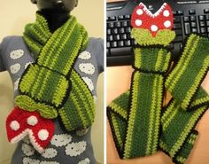 Check out this awesome Super Mario Piranha Plant Scarf handmade by An Enemy Airship (Mindy). It looks like a great way to stay warm and be geeky at the same time this winter. If you're crafty yourself, Mindy has provided the pattern she used to create it with, so get your yarn out.