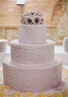 3-tier lavender wedding cake