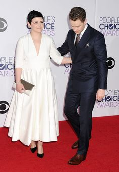 Ginnifer Goodwin and Josh Dallas at People's Choice Awards 2015.