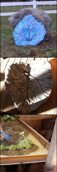 How To Make Garden Concrete Leaves  http://theownerbuildernetwork.co/lkdz  Looking for a great centerpiece for your garden.These concrete leaves can be used in many different situations including as bird baths or feeders.