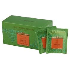 FORTNUM and MASON, London - GREEN TEA with GINGER - 75 tea bags (3 boxes of 25 bags) ** Read more reviews of the product by visiting the link on the image. (This is an affiliate link and I receive a commission for the sales)