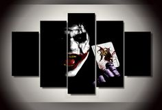 Style Your Home Today With This Amazing 5 Panel Batman Joker Framed Wall Canvas Art For $44.00  Discover more canvas selection here http://www.octotreasures.com  If you want to create a customized canvas by printing your own pictures or photos, please contact us.