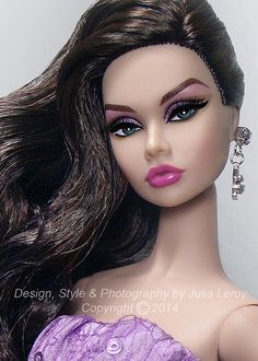 Poppy Parker 'Glamorous Darling' styled & photographed by Culte De Paris Doll Eye Makeup, Barbie Makeup, Fashion Royalty Dolls, Fashion Dolls, Fashion Art, Doll Eyes, Doll Face, Color Lavanda, Bad Barbie