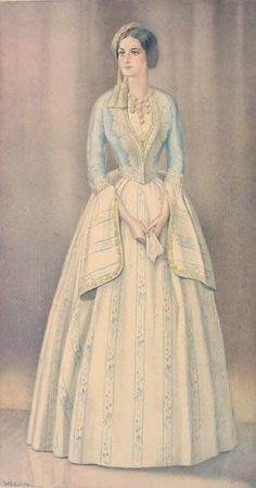 Greek Ladys Gala Dress of 1835 - Greek Costume Collection by NICOLAS SPERLING (Russia 1881-1940 / act: Athens).