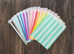 20ct Treat Paper Bags - Striped paper bags - Bridal, Baby Shower Party Supplies, decorative paper goods, food display