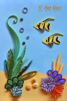Printre hobby-uri: quilling, kusudama, origami, bijuterii handmade...: Quilling - Undersea