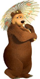 Masha e o Urso - Cia dos Gifs