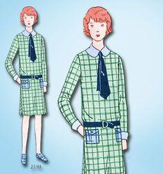 1920s VTG Butterick Sewing Pattern 2190 Uncut Little Girls Flapper Dress Size 8 #Butterick #FlapperDressPattern
