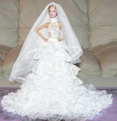 APHRODAI Fashion for Silkstone Royalty FR Barbie Outfit Bride Wedding Dress Lovely white wedding!