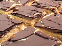 Dairy-free and delicious chocolate caramel shortbread aka millionaire's shortbread aka vegan twix bar slices