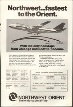 1978-Northwest Orient Airlines Advert