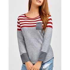 15.95$  Buy here - http://di454.justgood.pw/go.php?t=200417202 - Casual Long Sleeves Striped Pullover Sweater