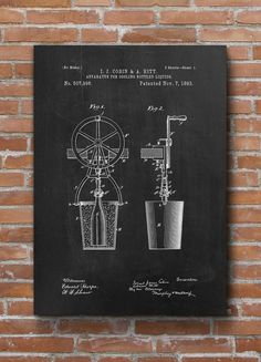 Bottle Cooler Patent Print Apparatus for Cooling by dalumna