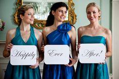 Placas para Bridesmaids(Damas de Honra)