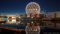 In Vancouver there is lots to see and do around the area. Science World is pictured here. Links and information.