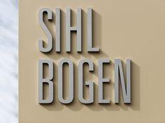 Sihlbogen Signaletik Web Design, Planer, Signage, Landscape Diagram, Arch, Creative, Design Web, Billboard, Website Designs