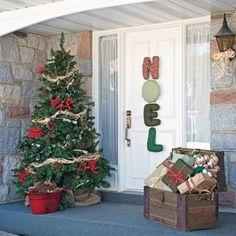 Fa ade de no l charmante et l gante inspirations - Achat decoration noel exterieur ...