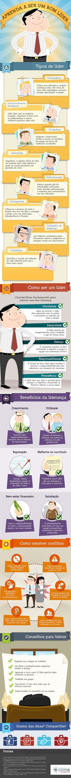 infográfico ser um bom líder