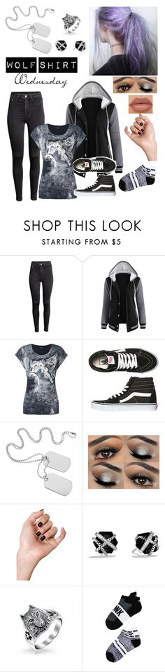 """Wolf Shirt Wednesday p.19"" by a-valen ❤ liked on Polyvore featuring H&M, Diesel, Vans, David Yurman, Victoria's Secret, wolf, wednesday and wolfshirtwednesday"