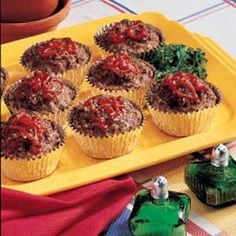 Favorite Meat Loaf Cups ... Quicker and cuter than a normal meat loaf. These were good.