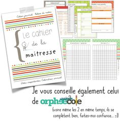 Spécial rentrée - Validées Teacher Binder, Teaching French, Planner Organization, Classroom Management, Notebook, Positivity, Education, School Life, Preschool
