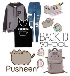 """#PVxPusheen"" by itssarianna ❤ liked on Polyvore featuring Pusheen, Topshop, contestentry and PVxPusheen"