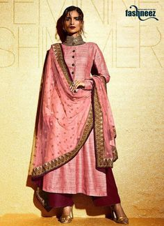 Genuine attractiveness comes out from your dressing style with this pink khadi…
