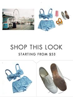 """holiday snacking"" by crystalpony ❤ liked on Polyvore featuring La Vie en Rose, Yohji Yamamoto, beach, photo, food and retro"